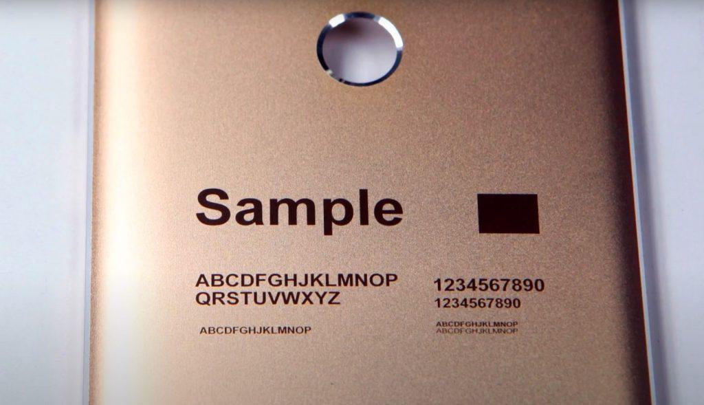 JPT Laser Engraving Anodized Aluminum